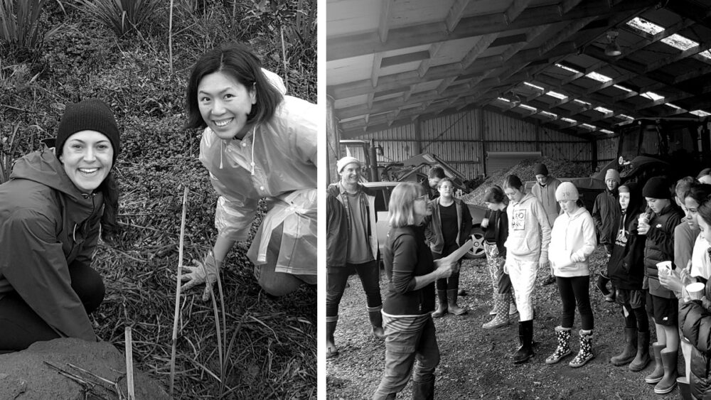 Pacific Environments Team at Trees for Life planting day